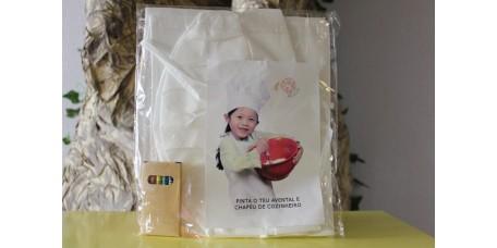 Avental e Chapéu de Cozinheiro para Pintar