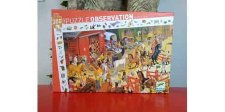 Puzzle Observação Equitação