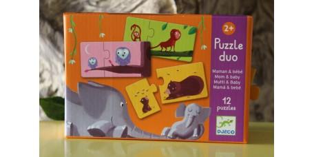 Puzzle Duo - Mamãs e Bebés