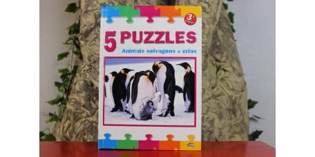 5 Puzzles - Animais Selvagens e Crias