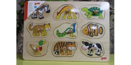 Puzzle as Peles dos Animais