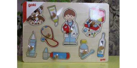 Puzzle no consultório médico
