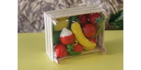 Caixa de Frutas e Legumes em Madeira