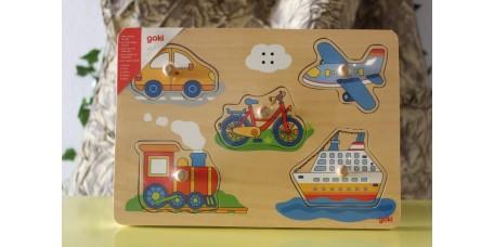 Puzzle dos Sons - Transportes