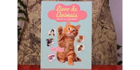 Livro de Animais Autocolantes - O Gato