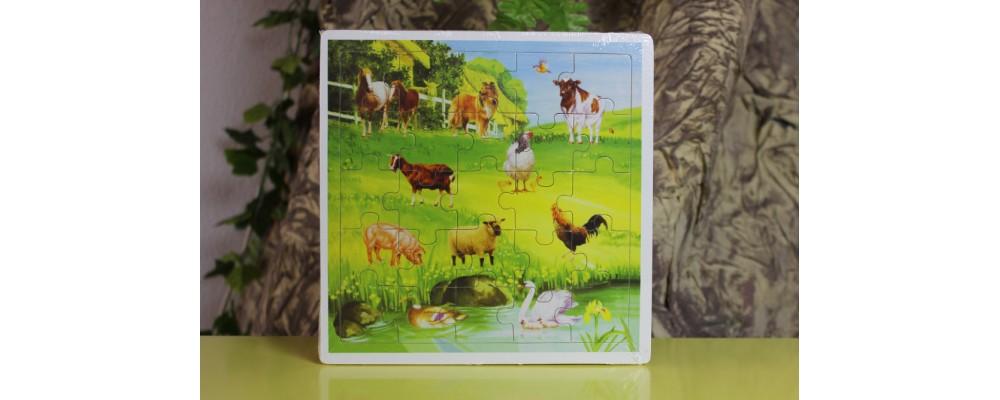 Puzzle Animais da Quinta em Madeira