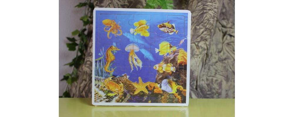 Puzzle Animais Marinhos em Madeira