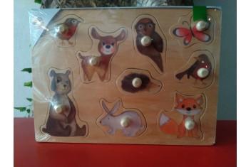 Puzzle de Madeira Animais Selvagens