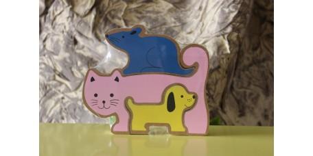 Puzzle Animais de Madeira