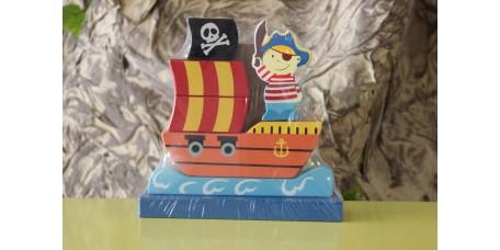 Jogo de Encaixe Barco Pirata