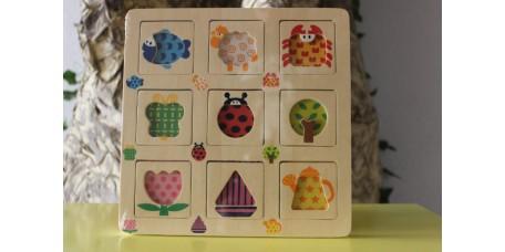 Conjunto de 2 Puzzles Texturas de Animais