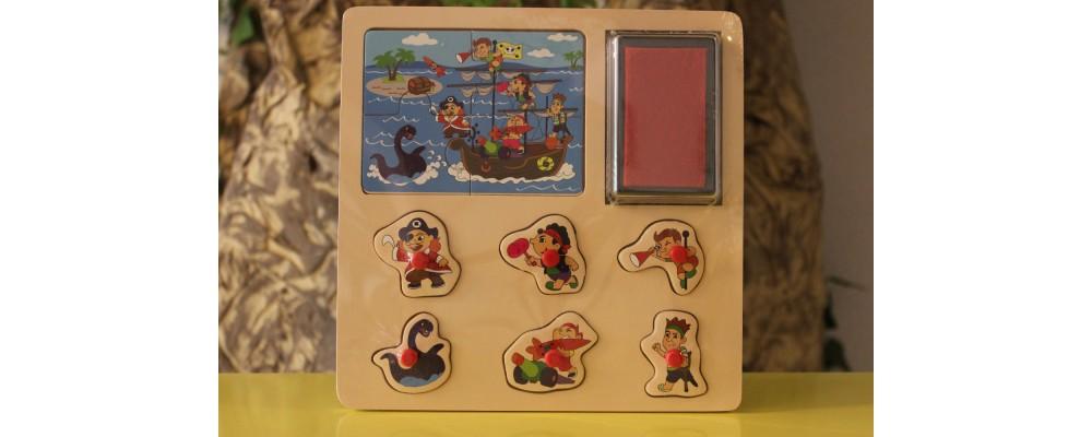 Puzzle com Carimbos Piratas