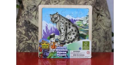Puzzle de Madeira - Leopardo das Neves