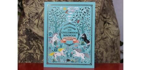Sociedade dos Unicórnios Mágicos - Livro oficial para colorir
