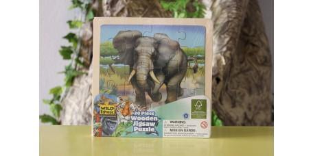 Puzzle de Madeira - Elefante