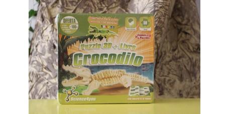 Puzzle 3D + Livro - Crocodilo