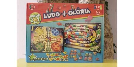 Jogo 2 em 1 - Ludo + Glória
