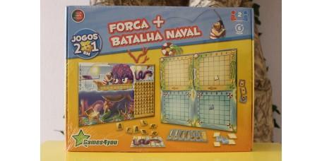 Jogo 2 em 1 - Forca + Batalha Naval