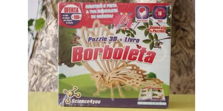 Puzzle 3D + Livro - Borboleta