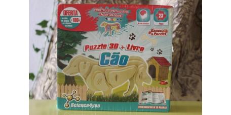 Puzzle 3D + Livro - Cão