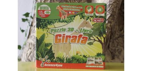 Puzzle 3D + Livro + Girafa