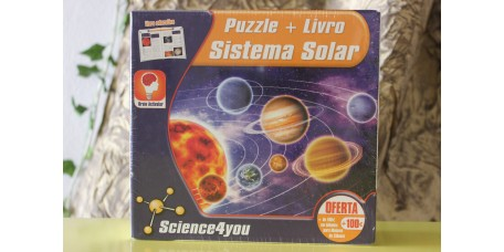 Puzzle + Livro Sistema Solar