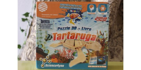 Puzzle 3D + Livro - Tartaruga
